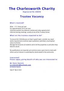 Charlesworth Charity - Trustee Vacancy